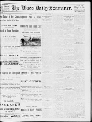 Primary view of object titled 'The Waco Daily Examiner. (Waco, Tex.), Vol. 15, No. 218, Ed. 1, Tuesday, August 29, 1882'.