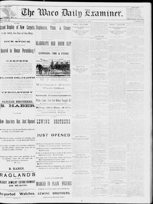 Primary view of object titled 'The Waco Daily Examiner. (Waco, Tex.), Vol. 15, No. 220, Ed. 1, Thursday, August 31, 1882'.