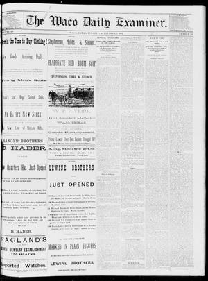 Primary view of object titled 'The Waco Daily Examiner. (Waco, Tex.), Vol. 15, No. 224, Ed. 1, Tuesday, September 5, 1882'.