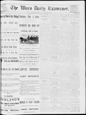 Primary view of object titled 'The Waco Daily Examiner. (Waco, Tex.), Vol. 15, No. 225, Ed. 1, Wednesday, September 6, 1882'.