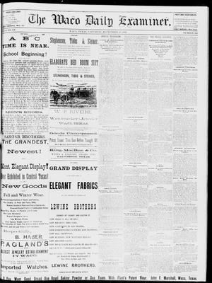 Primary view of object titled 'The Waco Daily Examiner. (Waco, Tex.), Vol. 15, No. 240, Ed. 1, Saturday, September 23, 1882'.