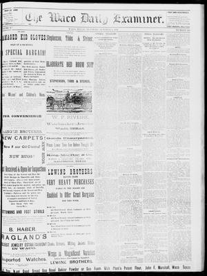 Primary view of object titled 'The Waco Daily Examiner. (Waco, Tex.), Vol. 15, No. 248, Ed. 1, Monday, October 2, 1882'.