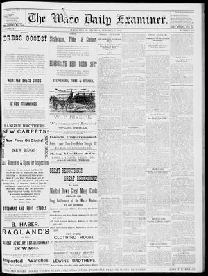 Primary view of object titled 'The Waco Daily Examiner. (Waco, Tex.), Vol. 15, No. 260, Ed. 1, Tuesday, October 17, 1882'.