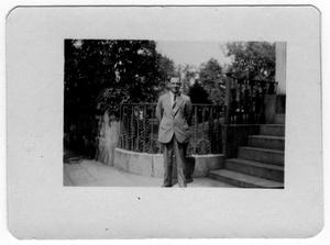 Primary view of object titled '[Bill Kirch at St. Mary's Parish, Brooklyn, N.Y.]'.