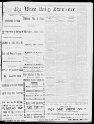 Primary view of object titled 'The Waco Daily Examiner. (Waco, Tex.), Vol. 15, No. 323, Ed. 1, Saturday, December 30, 1882'.