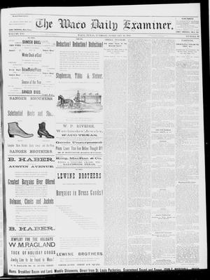 Primary view of object titled 'The Waco Daily Examiner. (Waco, Tex.), Vol. 16, No. 49, Ed. 1, Tuesday, February 13, 1883'.