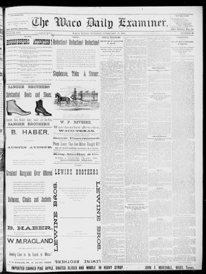 Primary view of object titled 'The Waco Daily Examiner. (Waco, Tex.), Vol. 16, No. 60, Ed. 1, Tuesday, February 27, 1883'.