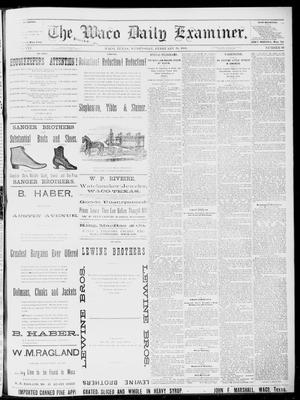 Primary view of object titled 'The Waco Daily Examiner. (Waco, Tex.), Vol. 16, No. 61, Ed. 1, Wednesday, February 28, 1883'.