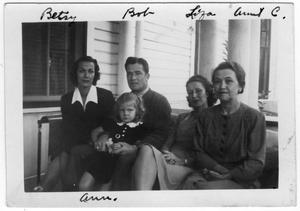 Primary view of object titled '[Betsy, Bob, Liza, Carril, and Ann]'.