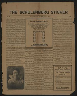 Primary view of object titled 'The Schulenburg Sticker (Schulenburg, Tex.), Vol. 20, No. 46, Ed. 1 Friday, August 14, 1914'.