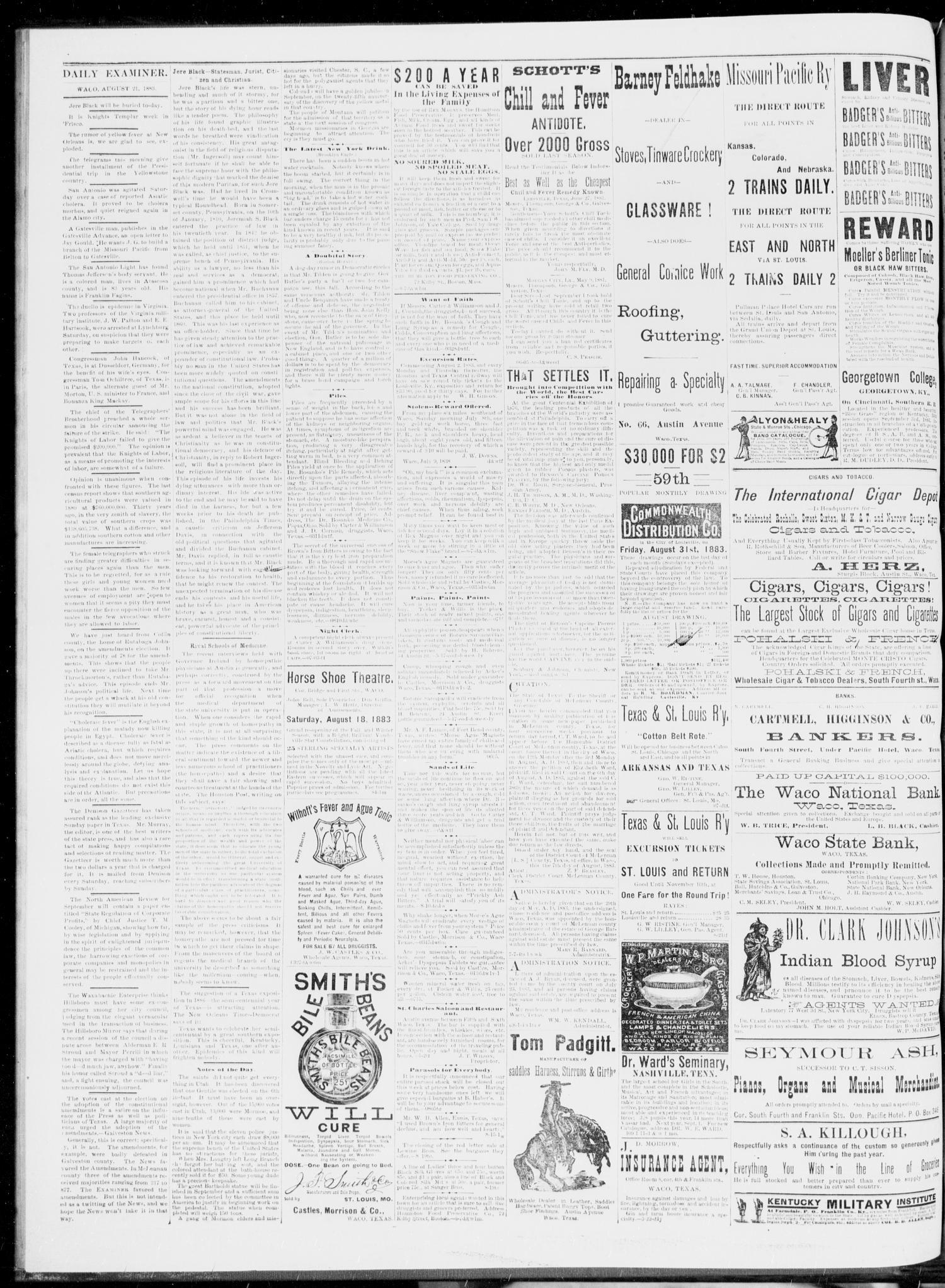 The Waco Daily Examiner  (Waco, Tex ), Vol  16, No  210, Ed