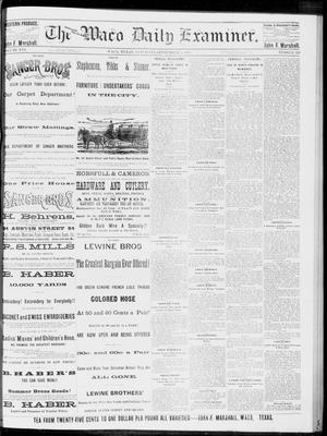 Primary view of object titled 'The Waco Daily Examiner. (Waco, Tex.), Vol. 16, No. 220, Ed. 1, Saturday, September 1, 1883'.