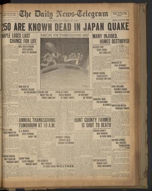Primary view of The Daily News-Telegram (Sulphur Springs, Tex.), Vol. 32, No. 282, Ed. 1 Wednesday, November 26, 1930