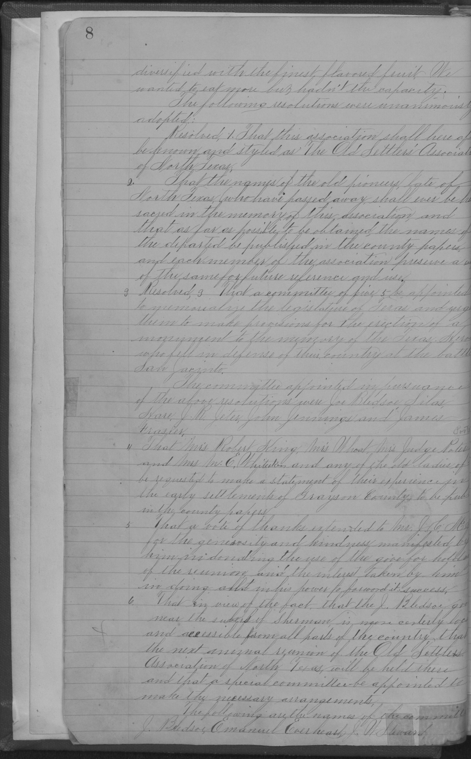 Old Settler's Association of Grayson County, Vol. 1.                                                                                                      [Sequence #]: 12 of 322