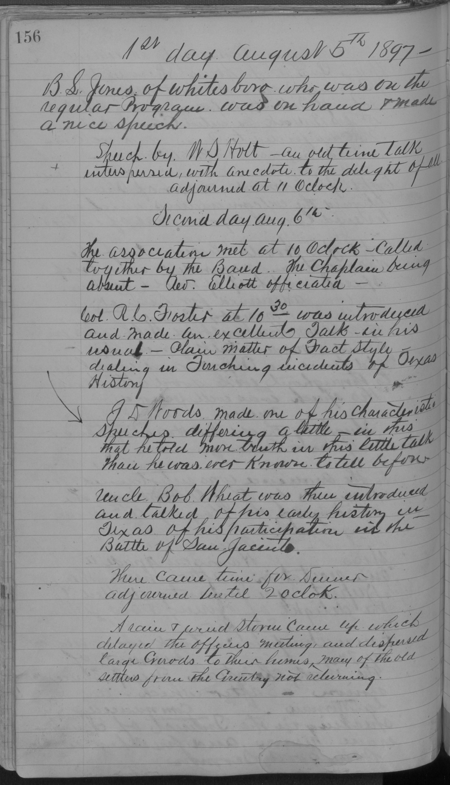 Old Settler's Association of Grayson County, Vol. 1.                                                                                                      [Sequence #]: 156 of 322