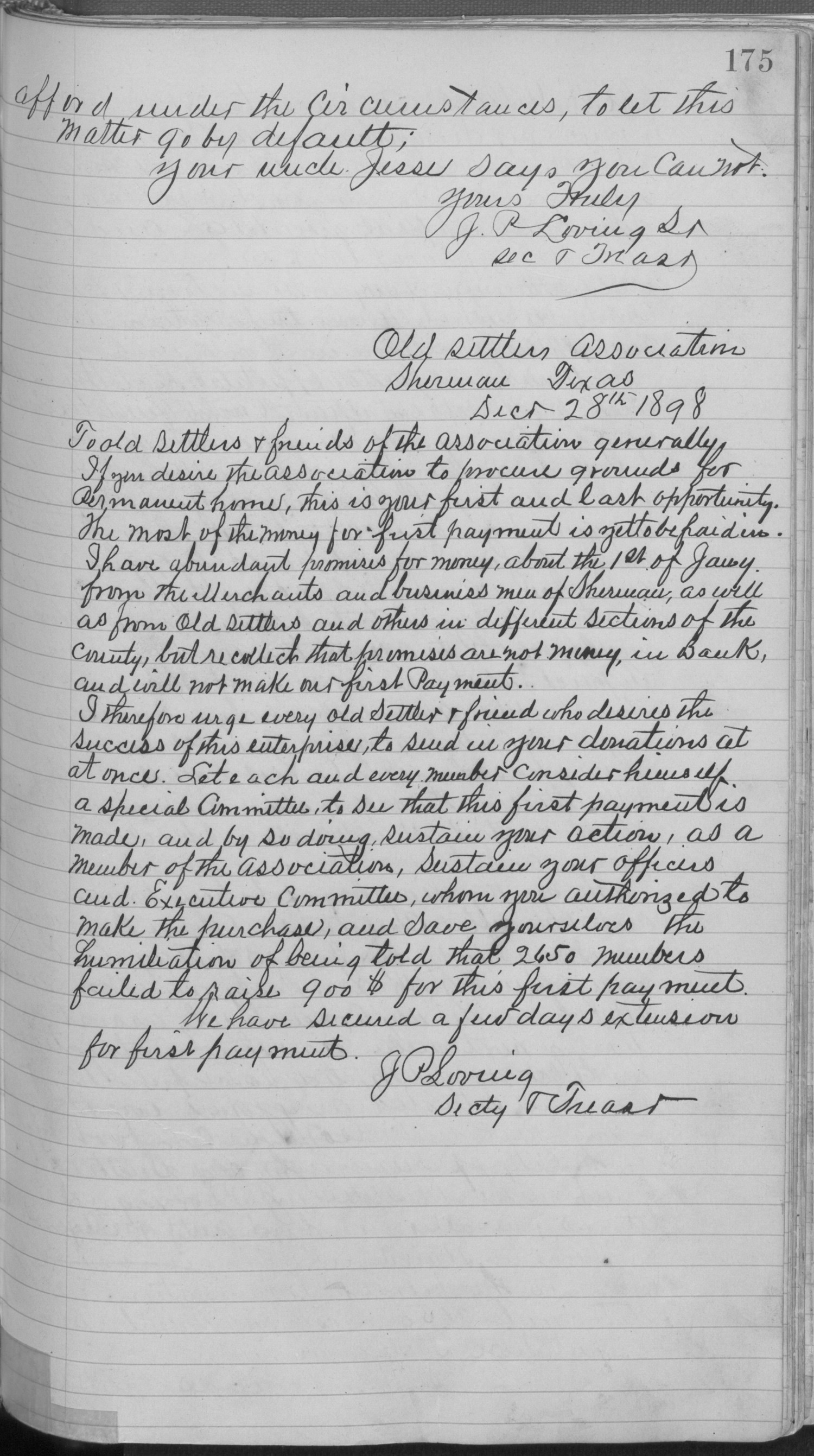 Old Settler's Association of Grayson County, Vol. 1.                                                                                                      [Sequence #]: 175 of 322