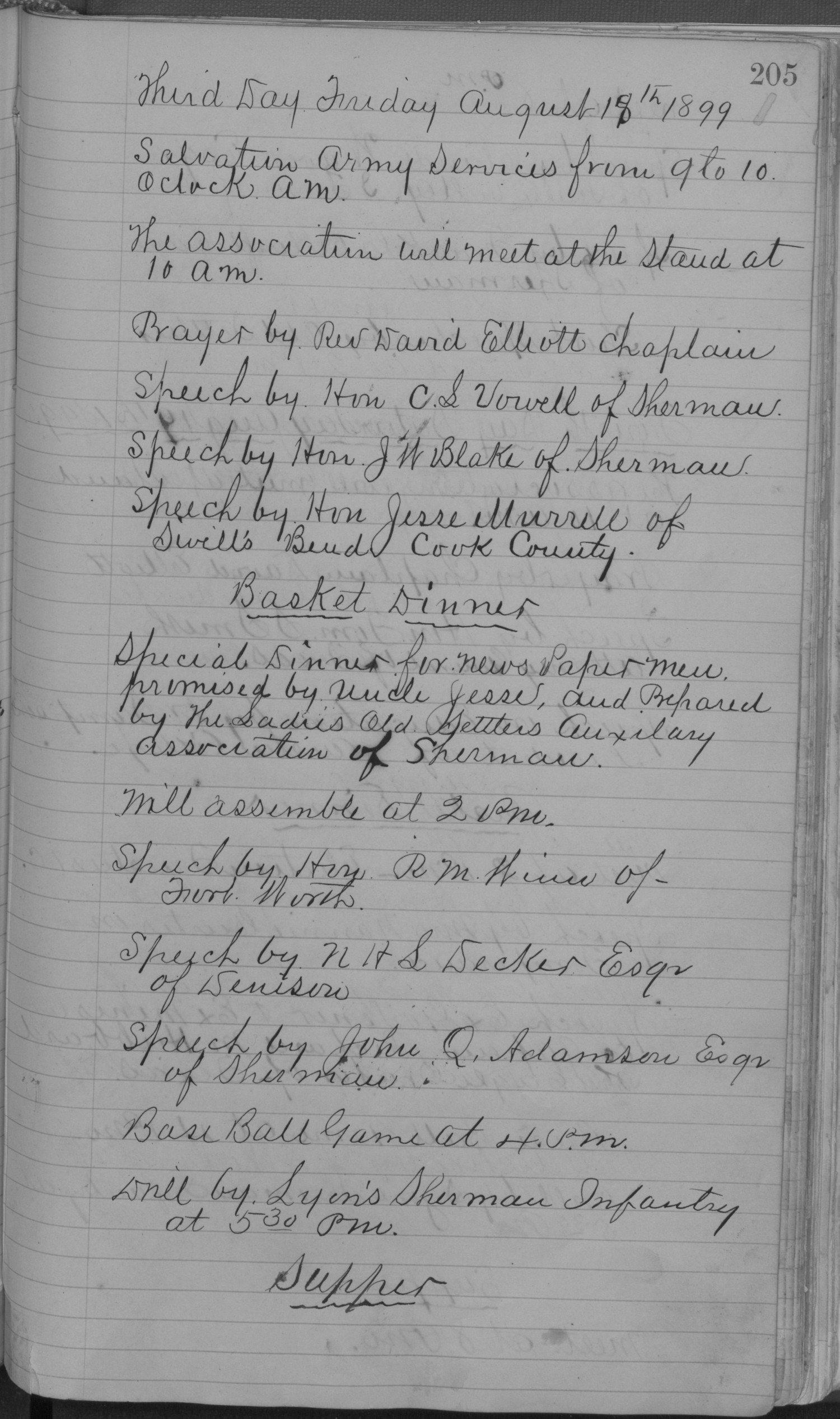 Old Settler's Association of Grayson County, Vol. 1.                                                                                                      [Sequence #]: 205 of 322