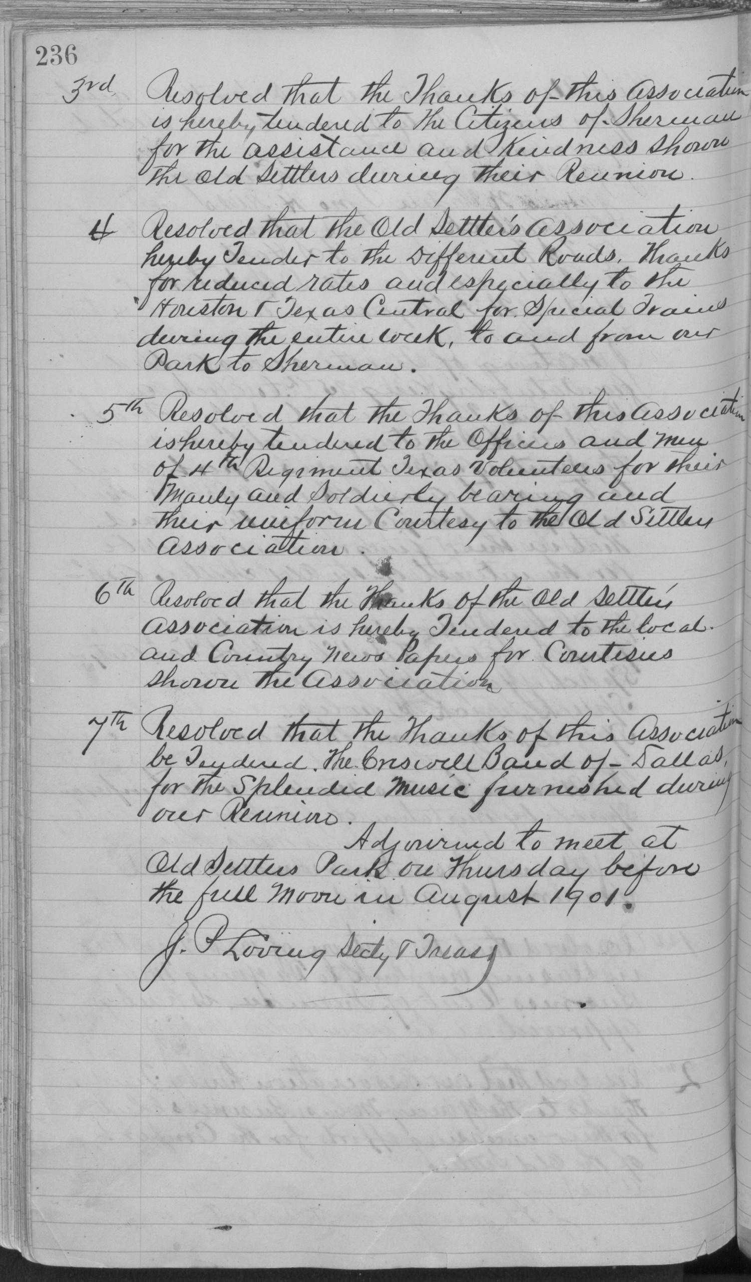 Old Settler's Association of Grayson County, Vol. 1.                                                                                                      [Sequence #]: 236 of 322