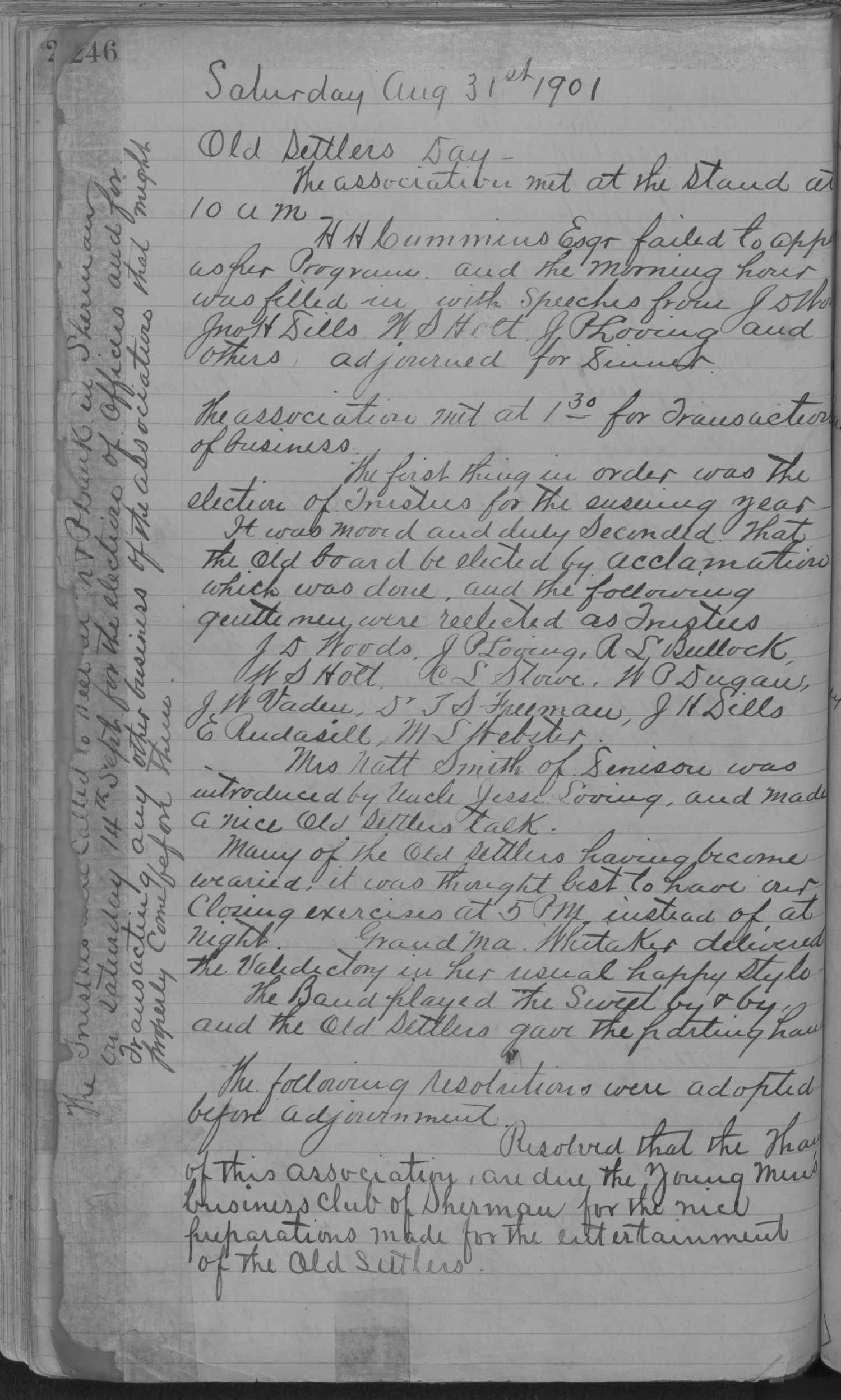 Old Settler's Association of Grayson County, Vol. 1.                                                                                                      [Sequence #]: 246 of 322