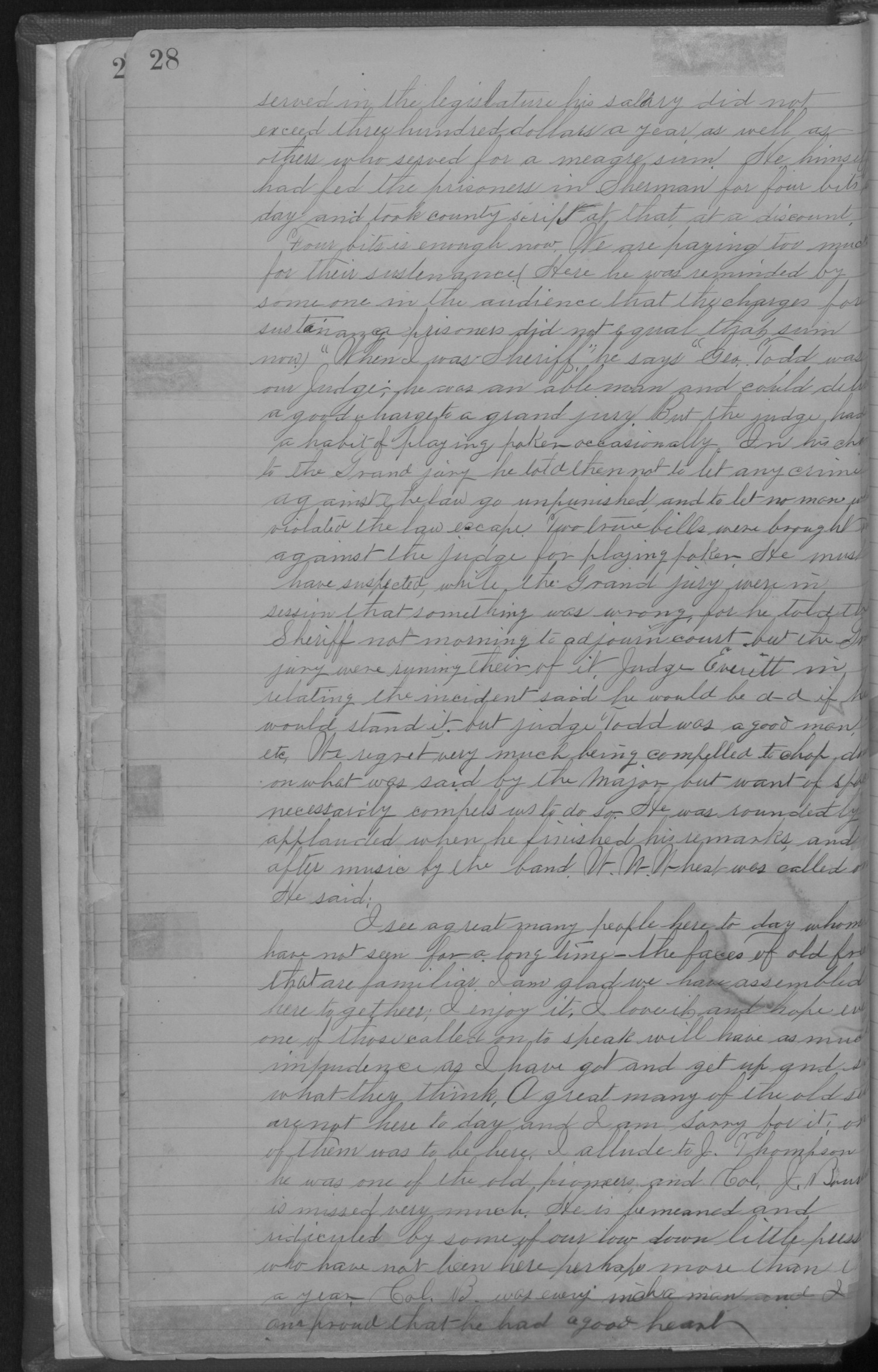 Old Settler's Association of Grayson County, Vol. 1.                                                                                                      [Sequence #]: 28 of 322