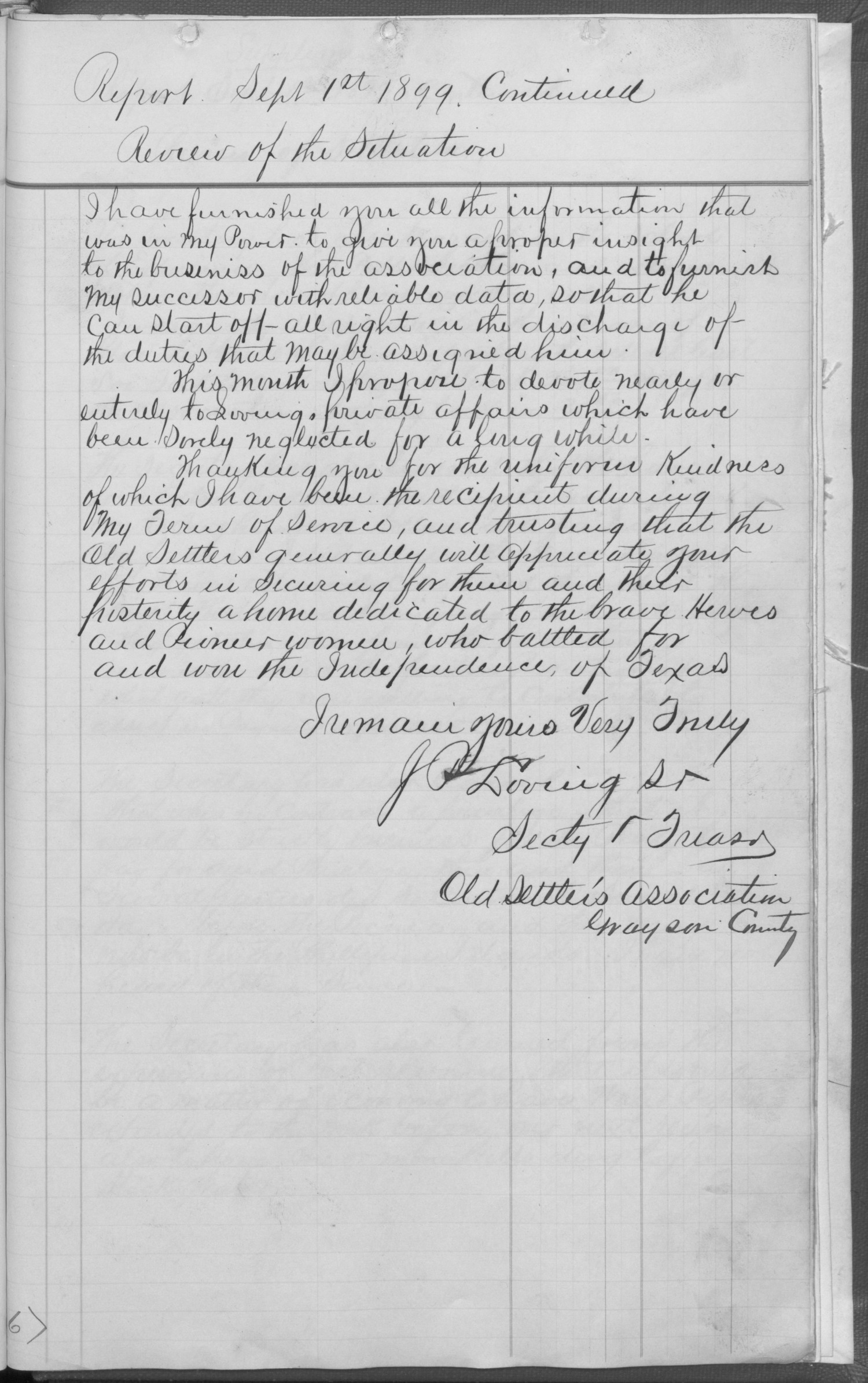 Old Settler's Association of Grayson County, Vol. 1.                                                                                                      [Sequence #]: 313 of 322