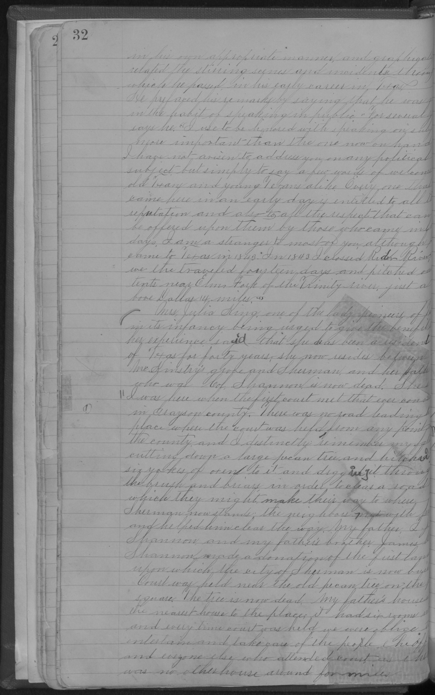 Old Settler's Association of Grayson County, Vol. 1.                                                                                                      [Sequence #]: 32 of 322