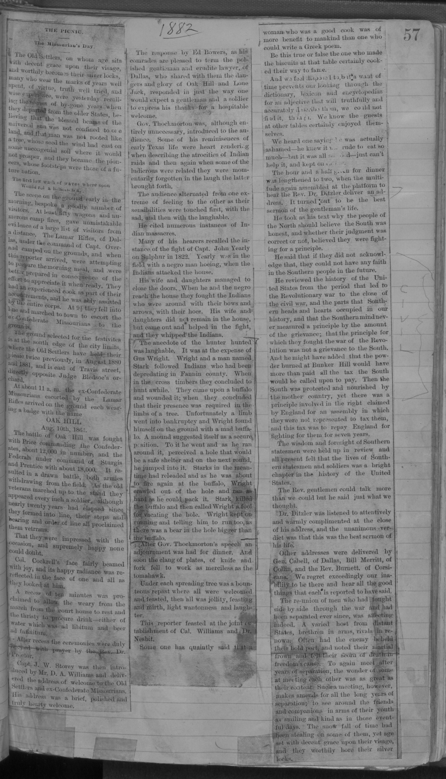 Old Settler's Association of Grayson County, Vol. 1.                                                                                                      [Sequence #]: 57 of 322