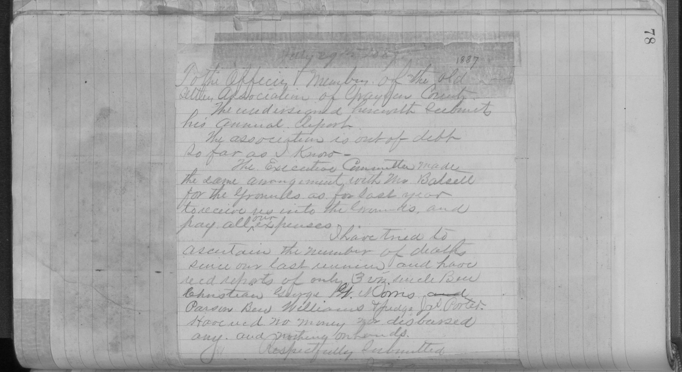 Old Settler's Association of Grayson County, Vol. 1.                                                                                                      [Sequence #]: 78 of 322