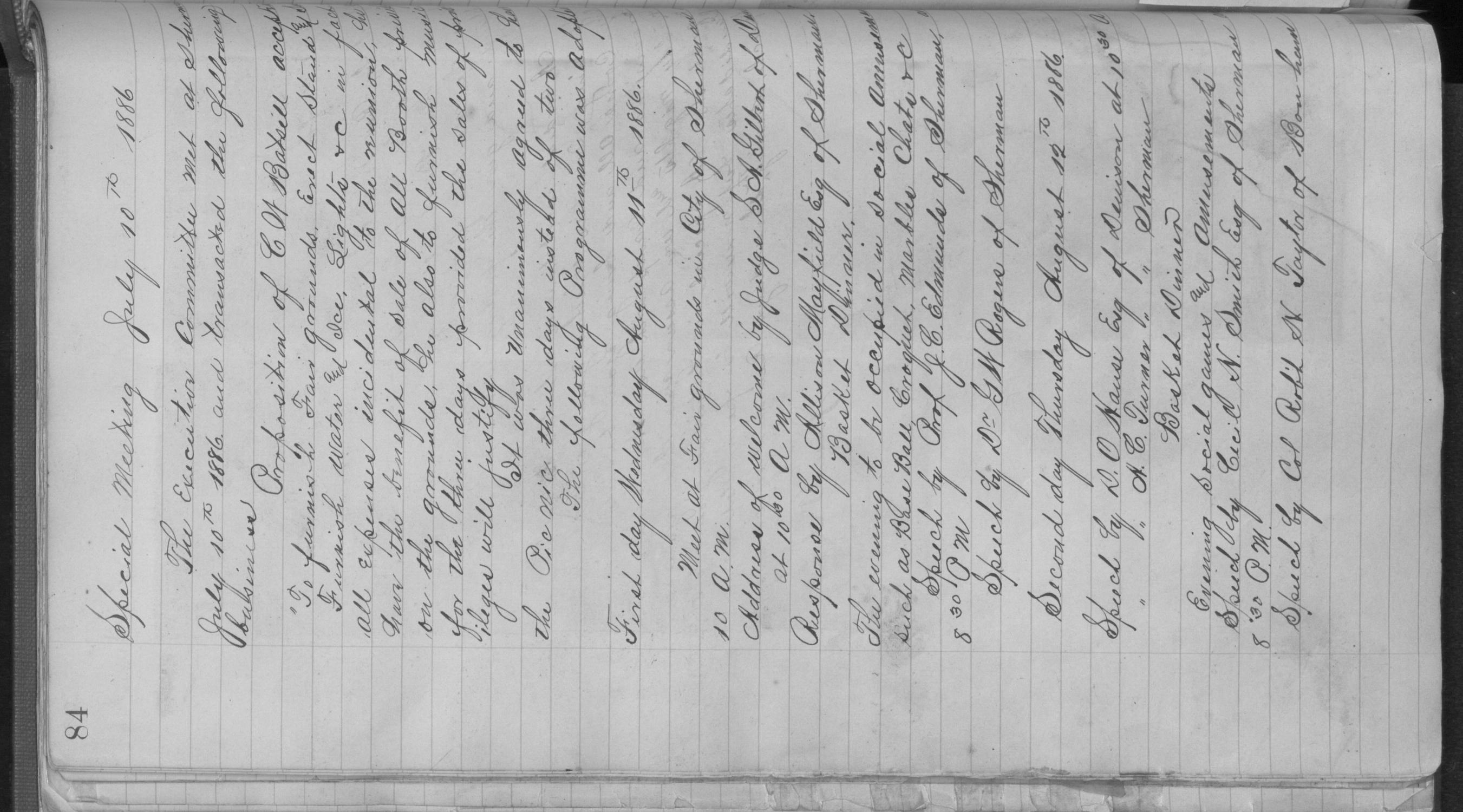 Old Settler's Association of Grayson County, Vol. 1.                                                                                                      [Sequence #]: 84 of 322