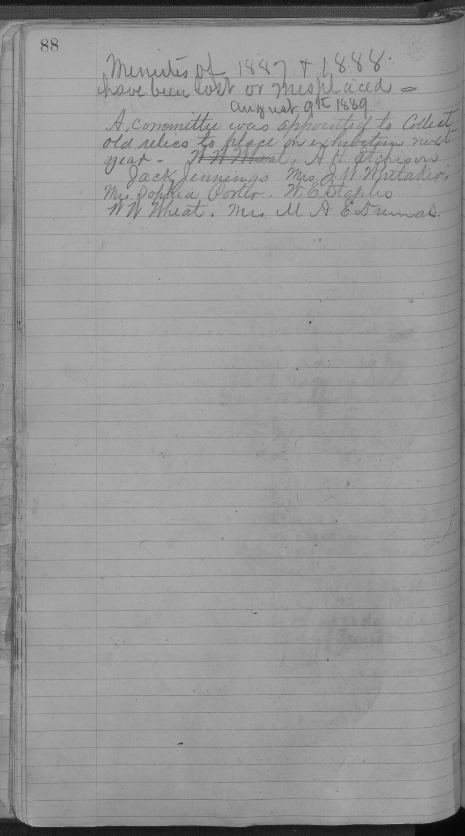 Old Settler's Association of Grayson County, Vol. 1.                                                                                                      [Sequence #]: 88 of 322