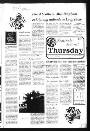 Seminole Sentinel (Seminole, Tex.), Vol. 74, No. 24, Ed. 1 Thursday, January 22, 1981