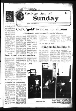 Seminole Sentinel (Seminole, Tex.), Vol. 74, No. 67, Ed. 1 Sunday, June 21, 1981