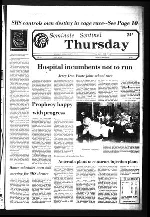 Seminole Sentinel (Seminole, Tex.), Vol. 74, No. 32, Ed. 1 Thursday, February 19, 1981