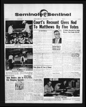 Seminole Sentinel (Seminole, Tex.), Vol. 59, No. 34, Ed. 1 Thursday, July 7, 1966
