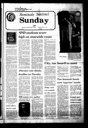 Seminole Sentinel (Seminole, Tex.), Vol. 73, No. 51, Ed. 1 Sunday, April 27, 1980