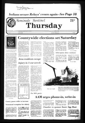 Seminole Sentinel (Seminole, Tex.), Vol. 74, No. 44, Ed. 1 Thursday, April 2, 1981