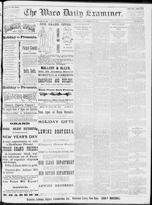 Primary view of object titled 'The Waco Daily Examiner. (Waco, Tex.), Vol. 16, No. 315, Ed. 1, Thursday, December 20, 1883'.