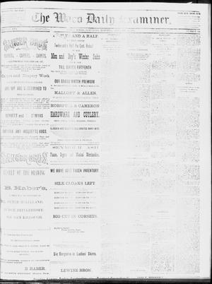 Primary view of object titled 'The Waco Daily Examiner. (Waco, Tex.), Vol. 16, No. 334, Ed. 1, Saturday, January 12, 1884'.