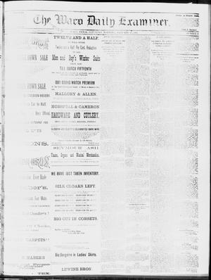 Primary view of object titled 'The Waco Daily Examiner. (Waco, Tex.), Vol. 17, No. 3, Ed. 1, Saturday, January 19, 1884'.