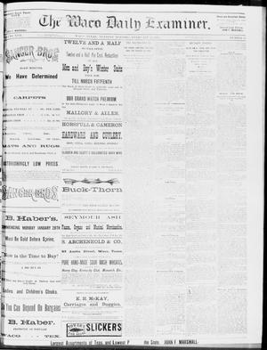 Primary view of object titled 'The Waco Daily Examiner. (Waco, Tex.), Vol. 17, No. 23, Ed. 1, Tuesday, February 12, 1884'.