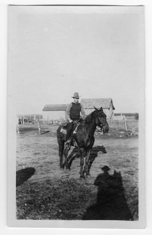 Primary view of object titled 'Unidentified Man on Horseback'.