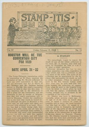 Stamp-Itis, Volume 4, Number 15, February 15, 1928