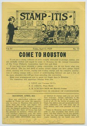 Stamp-Itis, Volume 4, Number 17, April 12, 1929