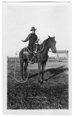 Primary view of object titled 'Unidentified Man on Horseback with Rope'.