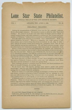 Primary view of Lone Star State Philatelist, Volume 1, Number 32, April 8, 1895