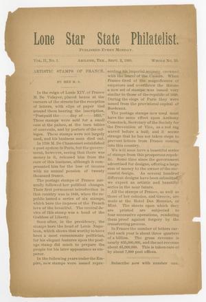 Lone Star State Philatelist, Volume 2, Number 1, September 2, 1895