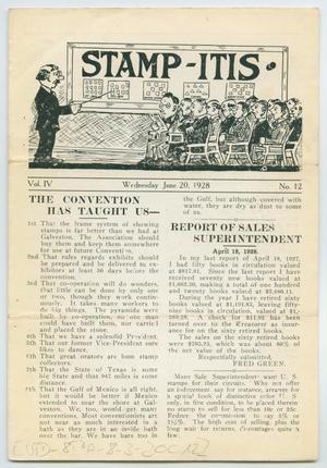 Stamp-Itis, Volume 4, Number 12, June 20, 1928