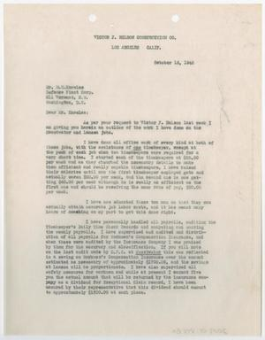 Primary view of object titled '[Letter from Robert Young to M. H. Knowles, October 16, 1942]'.