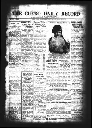 The Cuero Daily Record (Cuero, Tex.), Vol. 62, No. 39, Ed. 1 Monday, February 16, 1925
