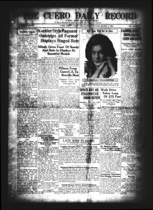 The Cuero Daily Record (Cuero, Tex.), Vol. 62, No. 61, Ed. 1 Friday, March 13, 1925